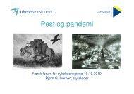 de andre - Norsk Forum for sykehushygiene