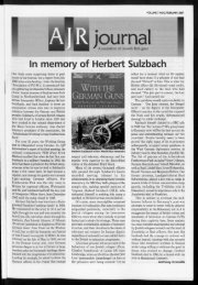 In memory of Herbert Sulzbach GrmiAvniTK's - The Association of ...