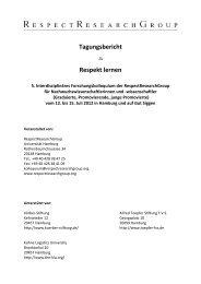 Tagungsbericht - RespectResearchGroup