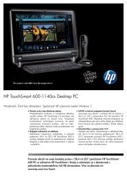 PSG Consumer 1C10 HP Desktop Datasheet