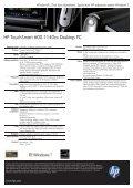 PSG Consumer 1C10 HP Desktop Datasheet - Page 2