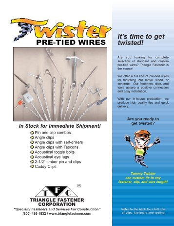 It's Time To Get Twisted! - Triangle Fastener