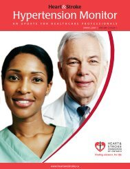 Spring 2007 Volume 2 Issue 1 - Heart and Stroke Foundation of ...
