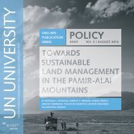 Towards Sustainable Land Management in the Pamir-Alai Mountains