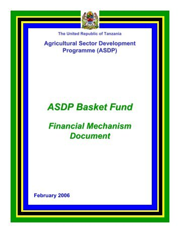 ASDP Basket Fund - Ministry Of Agriculture, Food and Cooperatives