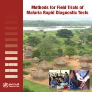 Methods for Field Trials of Malaria Rapid Diagnostic Tests