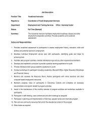 Job Description Position Title: Vocational Instructor Reports to ...
