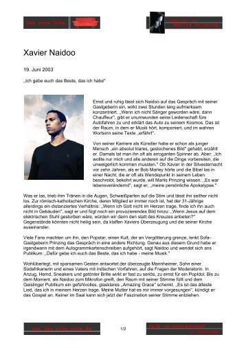 Xavier Naidoo - Marlis Prinzing