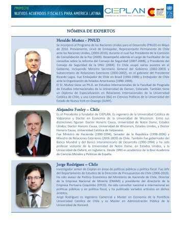NOMINA DE EXPERTOS - Cieplan