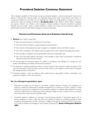Procedural Sedation Consensus Statement - American Society for ...