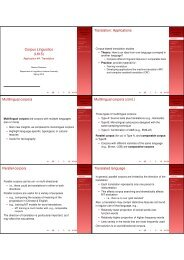 Corpus Linguistics (L615) Translation ... - Indiana University