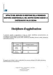 Disciplinare di aggiudicazione Castelnuovo.pdf - Azienda USL 5 Pisa