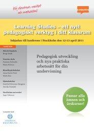 Inbjudan till konferens i Stockholm den 12-13 april 2011 - Conductive