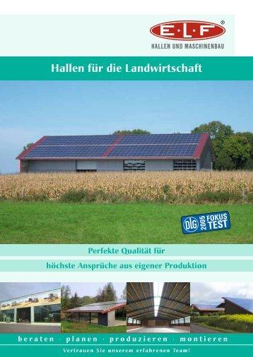 Hallen für die Landwirtschaft - ELF Hallen