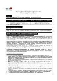 091021 Fiche RNCP LP-ECoSyM - Université de Rennes 1