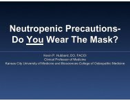 Neutropenic Precautions- Do You Wear The Mask? - American ...