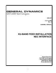 ku-band feed installation nec interface - General Dynamics ...