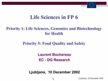 Genomics & biotechnology for health - RTD
