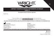limpieza y manipulación del instrumental de wright 130561-8