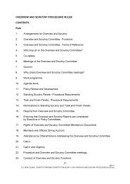 Overview and Scrutiny Rules PDF 104 KB - Meetings, agenda, and ...