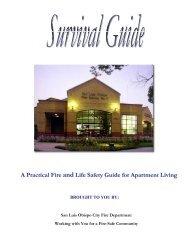 Is Your Apartment Safe? - the City of San Luis Obispo