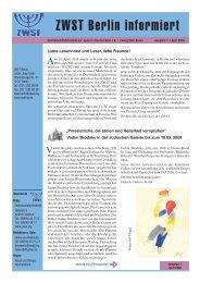 April 2008 - Zentralwohlfahrtsstelle der Juden in Deutschland eV