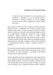 Teoria dos sistemas e processo de design do projeto ... - Nomads.usp
