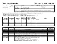 evla observing log 2013-01-21_1550_12a-256 - Very Large Array