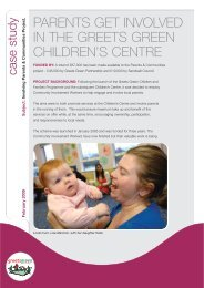 parents get involved in the greets green children's centre