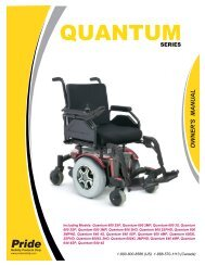 Owners Manual - Pride Mobility Products