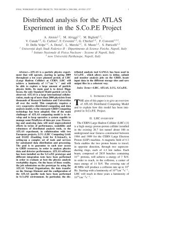 Distributed analysis for the ATLAS Experiment in the S.Co.P.E Project