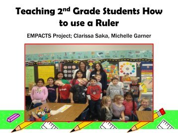 Teaching 2nd Grade Students How to use a Ruler - Faculty Web ...