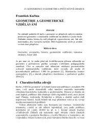 František Kuřina GEOMETRIE A GEOMETRICKÉ VZDĚLÁVÁNÍ 1 ...