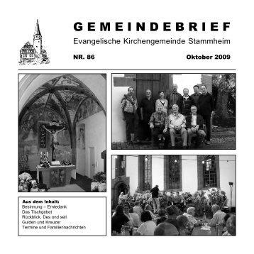 GEMEINDEBRIEF - Evangelische Kirchengemeinde Calw-Stammheim
