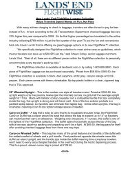 FlightWise Collection Fact Sheet - Lands' End
