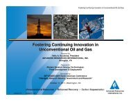Fostering Continuing Innovation in Unconventional Oil and Gas
