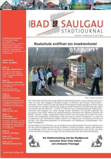 Realschule eröffnet ein Insektenhotel - Stadt Bad Saulgau