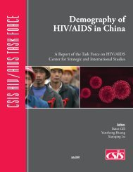 Demography of HIV/AIDS in China - Center for Strategic and ...