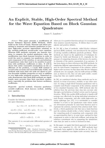 An Explicit, Stable, High-Order Spectral Method for the Wave ...