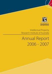 Annual Report 2006 - 2007 - Intellectual Property Research Institute ...