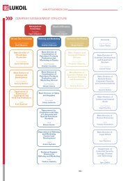 COMPANY MANAGEMENT STRUCTURE - Lukoil