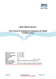 (CoSHH) Policy - NHS Forth Valley