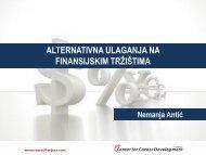 alternativna ulaganja na finansijskim tržištima - Razvoj karijere