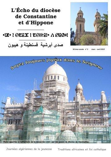 echo mars avril 2012 pour le site - Église Catholique d'Algérie