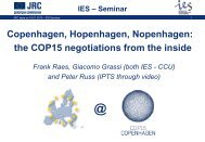 IES – Seminar - Climate Change and Air Quality Unit
