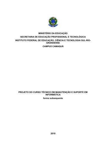 PPC_Manutencao_Suporte_Informatica - Instituto Federal Sul-rio ...
