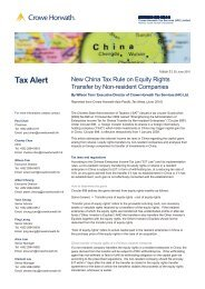 New China Tax Rule on Equity Rights Transfer by Non-resident ...