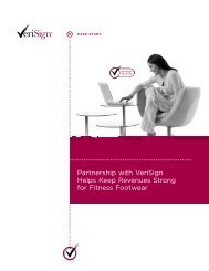 Partnership with VeriSign Helps Keep Revenues Strong for Fitness ...