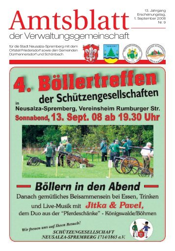 Bürgermeister Günter Paulik wurde am 26. Juli 2008 feierlich in den ...