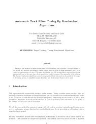 Automatic Track Filter Tuning By Randomized Algorithms